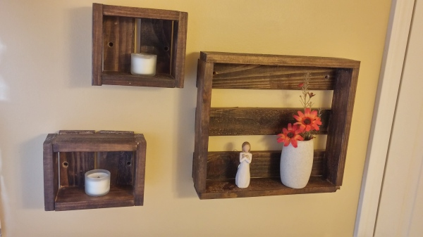 Pallet Board Crate Shelves